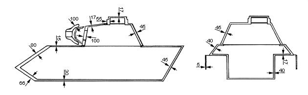 Схема бронирования танка Pz