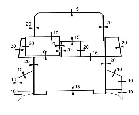 Схема бортового бронирования